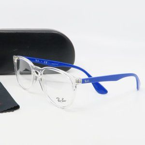 RB 7046 5734 Ray-Ban Clear/ Blue Glasses 51mm
